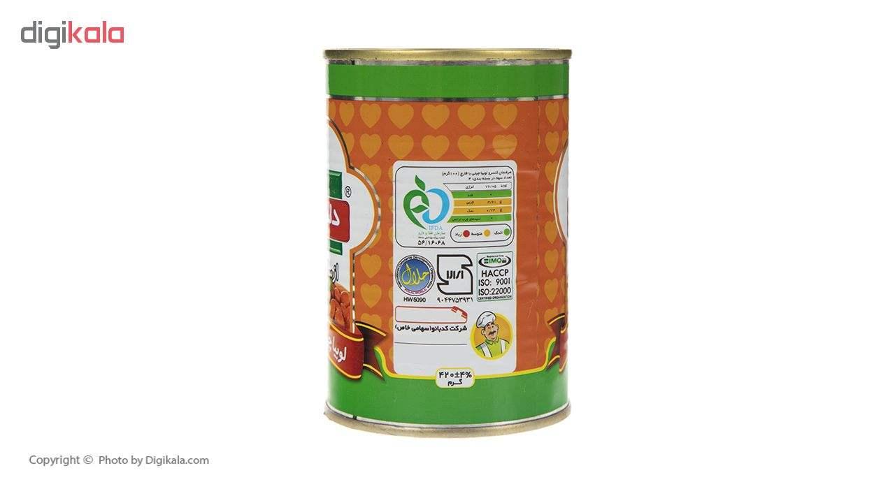 کنسرو لوبیا چیتی با قارچ دلپذیر - 420 گرم main 1 2