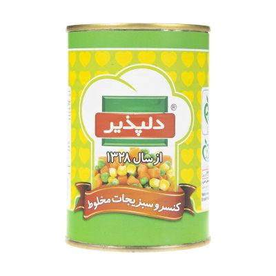 کنسرو سبزیجات مخلوط دلپذیر - 420 گرم