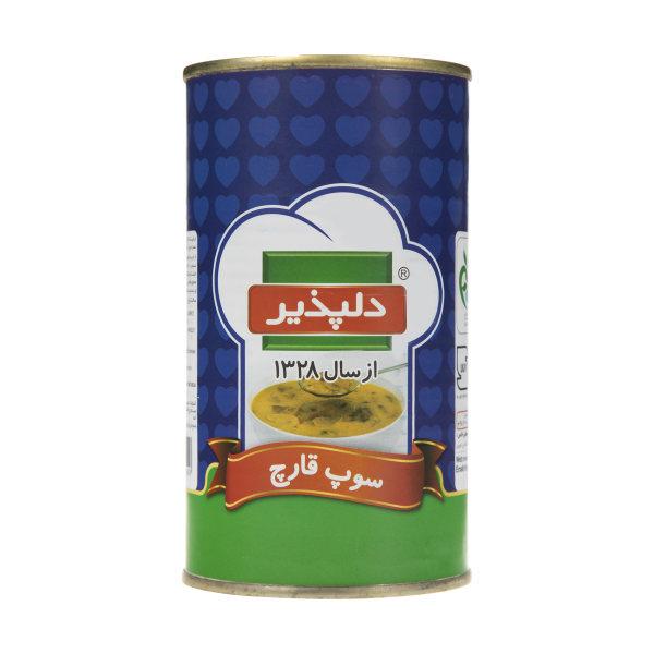 کنسرو سوپ قارچ دلپذیر مقدار 500 گرم