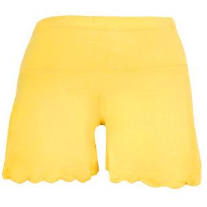 دامن شلوارک بارداری کد A017 رنگ زرد