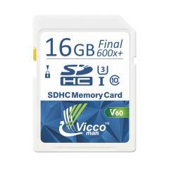 کارت حافظه SDHC ویکومن مدل Extra 600X کلاس 10استاندارد UHS-I سرعت 90MB/S ظرفیت 16 گیگابایت