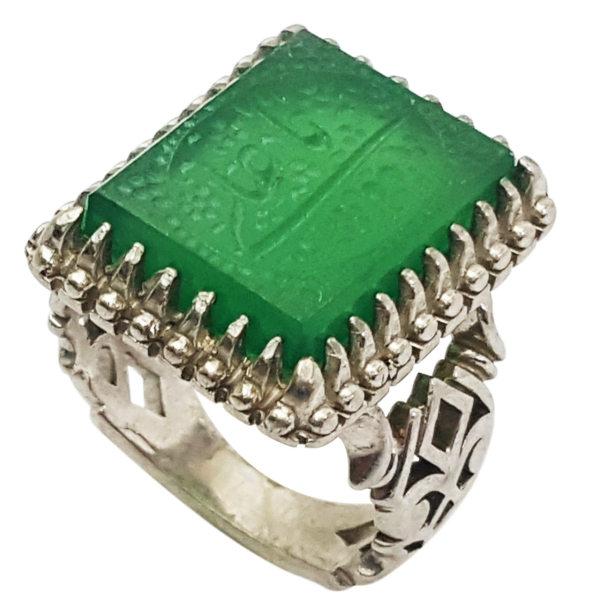 انگشتر نقره مردانه گالری احد کد 10206