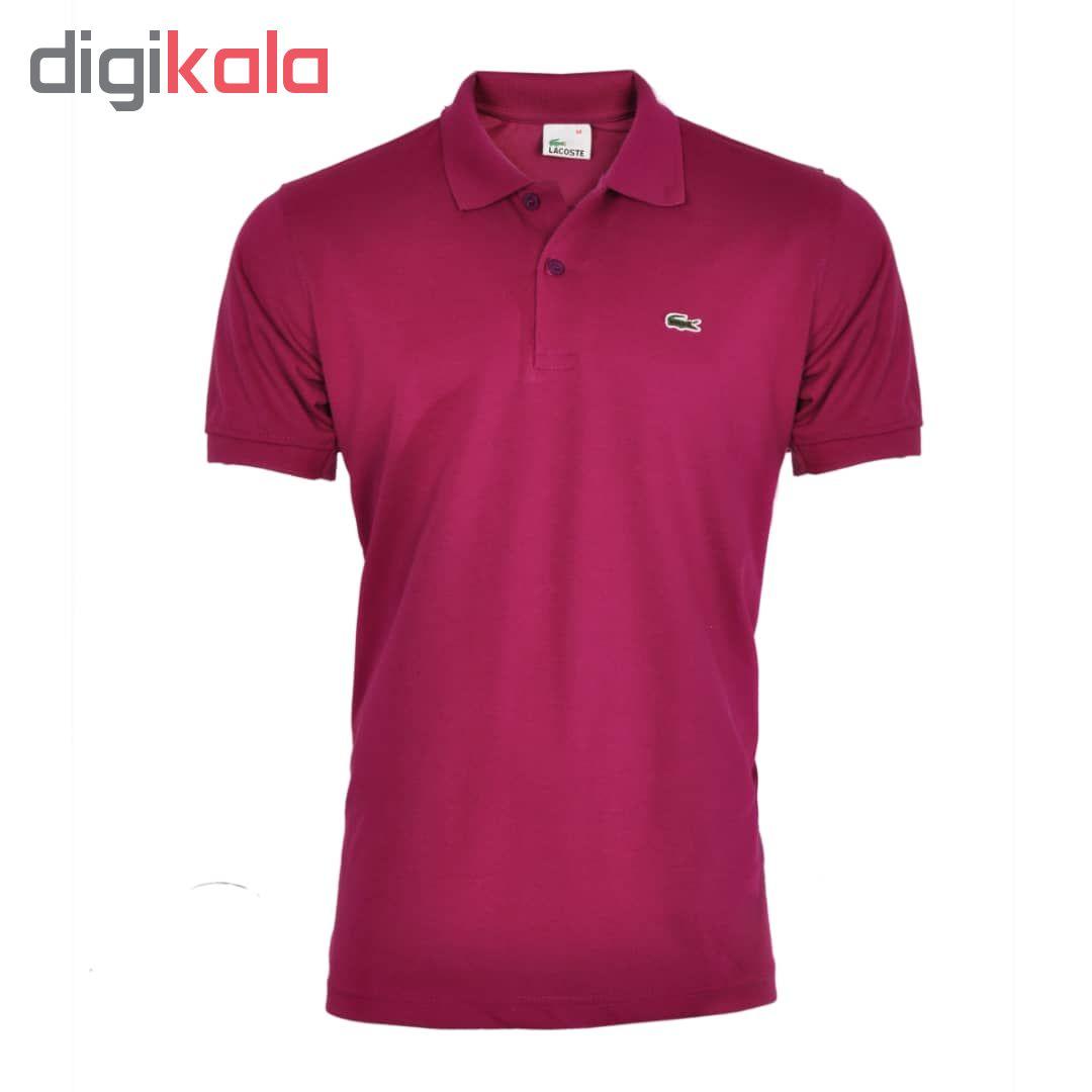 تی شرت مردانه آستین کوتاه کد 704005 رنگ زرشکی