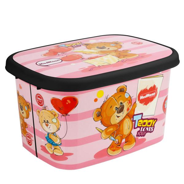 جعبه اسباب بازی کودک مدمان طرح بلک خرس صورتی کد3