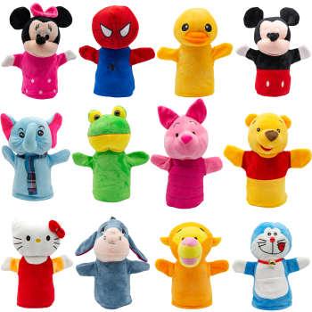 عروسک های نمایشی بی جی دالز طرح حیوانات و شخصیت های انیمیشن مجموعه 12 عددی