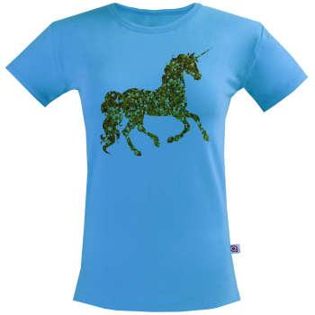 تیشرت آستین کوتاه زنانه آکو طرح اسب کد BA37 |