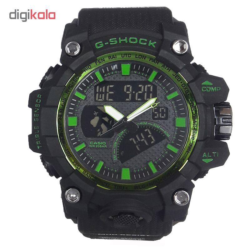 ساعت مچی دیجیتال مردانه مدل G-SH 1177 / ME-SAB به همراه دستمال مخصوص نانو برند کلیر واچ