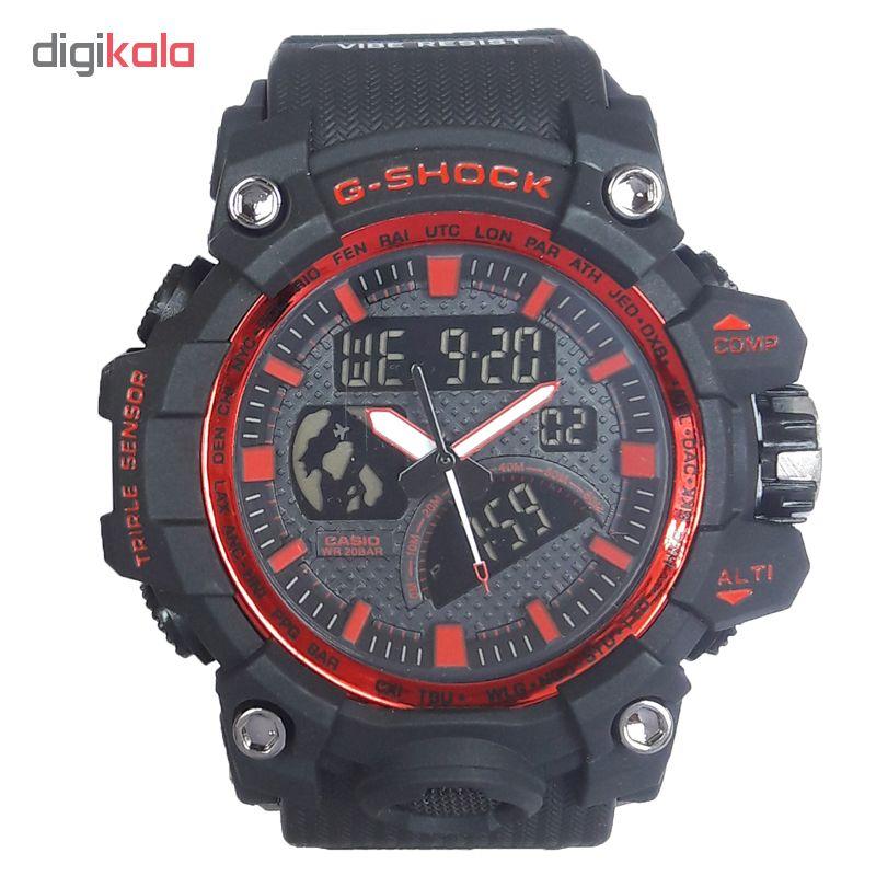 خرید ساعت مچی دیجیتال مردانه مدل G-SH 1177 / ME-GHER به همراه دستمال مخصوص نانو برند کلیر واچ