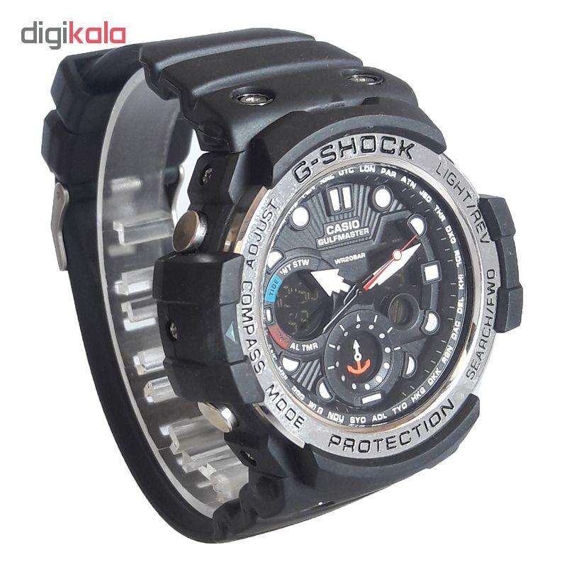 ساعت مچی دیجیتال مردانه مدل G-SH 1155 / ME-NO به همراه دستمال مخصوص نانو برند کلیر واچ