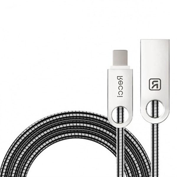 کابل تبدیل USB به USB-C رسی مدل RCT-C100 طول 1 متر