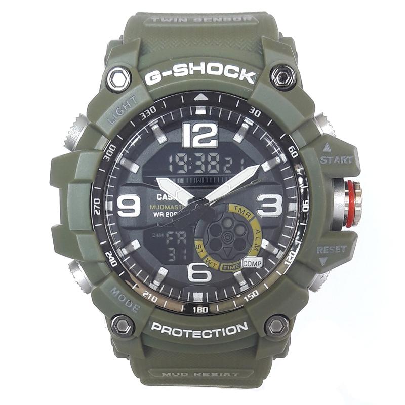 ساعت مچی دیجیتال مردانه مدل G-SH 1199 / SAB به همراه دستمال مخصوص نانو برند کلیر واچ 33