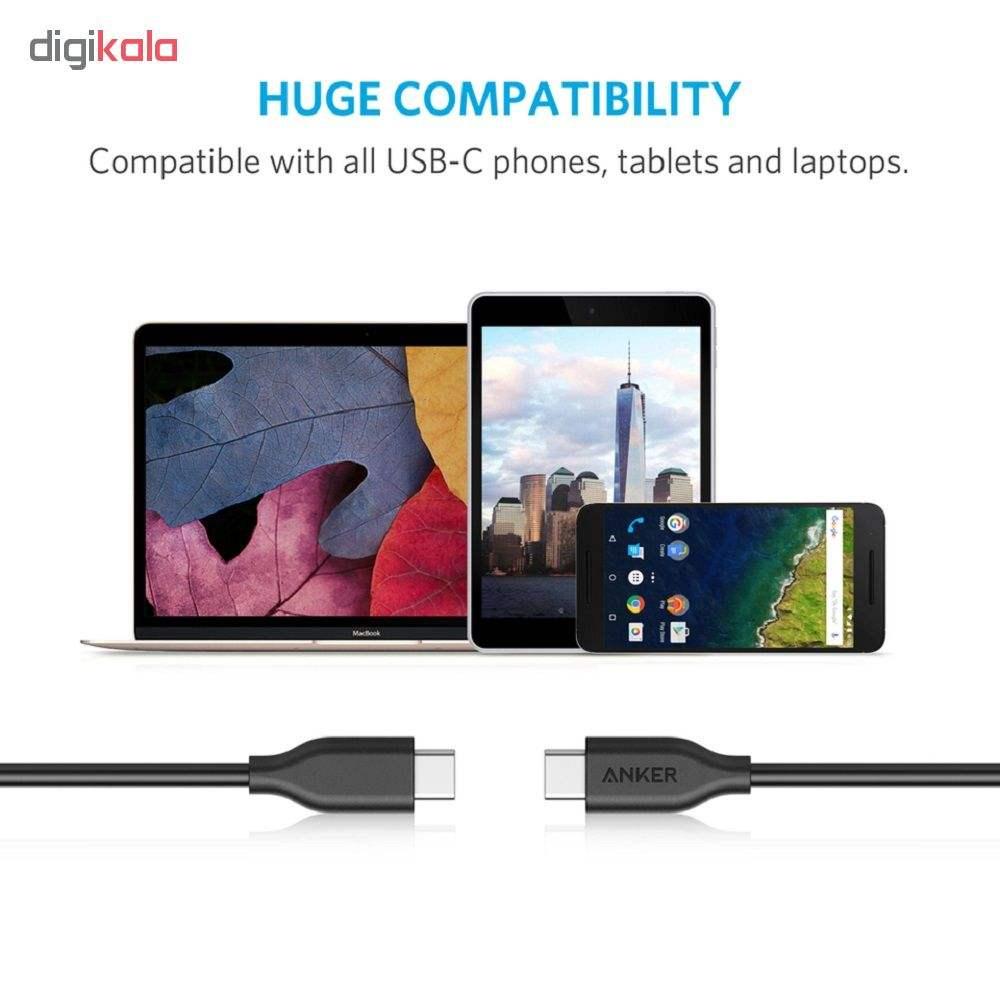 کابل تبدیل USB-C به USB-C انکر مدل Powerline  A8182 طول 1.8 متر main 1 4