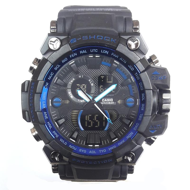 کد تخفیف                                      ساعت مچی دیجیتال مردانه مدل G-SH 1100 / ME-AB به همراه دستمال مخصوص نانو برند کلیر واچ                     غیر اصل