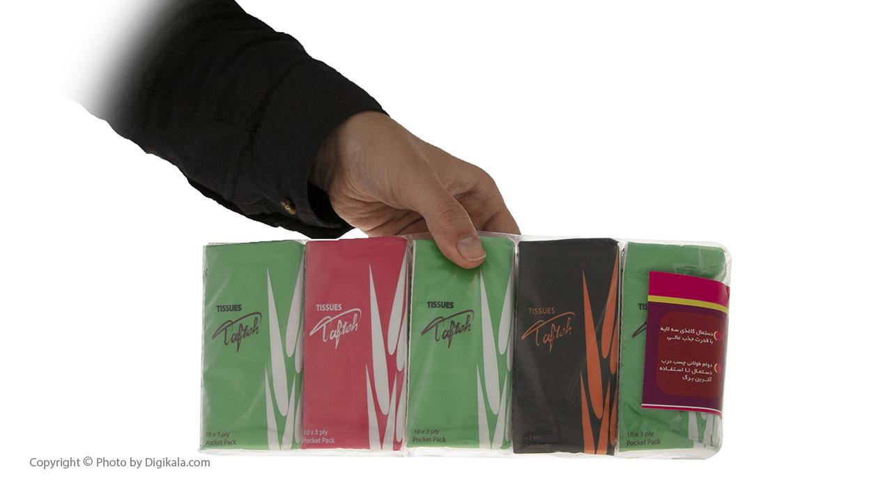 دستمال کاغذی جیبی تافته 10 برگ بسته 10 عددی main 1 3