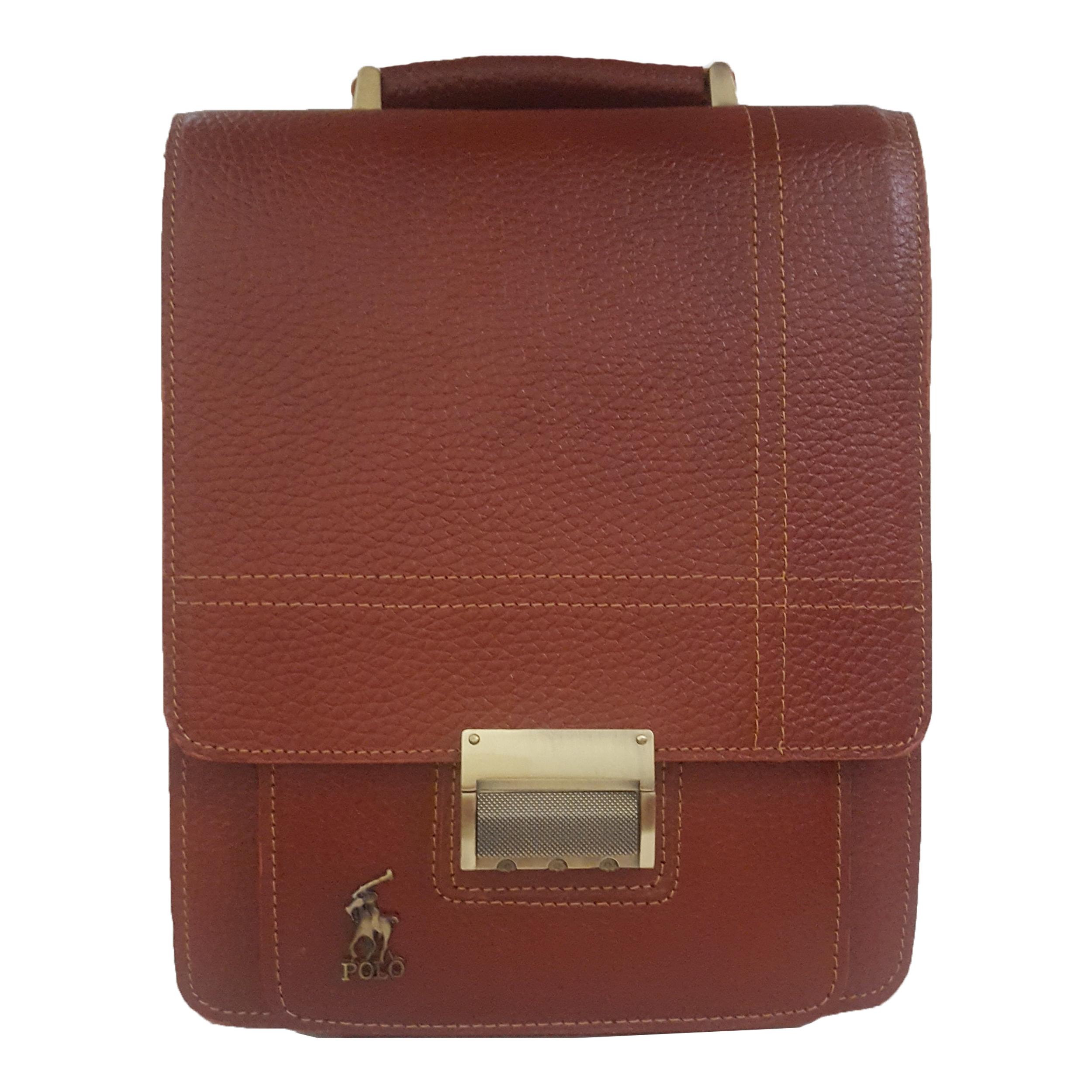 کیف دوشی چرم مدل MST کد 02