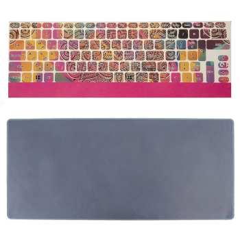 برچسب حروف فارسی کیبورد طرح گل سنتی به همراه محافظ کیبورد مدل 15-I مناسب برای لپ تاپ 15.6 اینچ