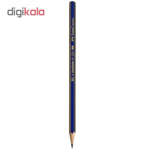 مداد طراحی فابر کاستل مدل گلد فابر 6B بسته 12 عددی main 1 1