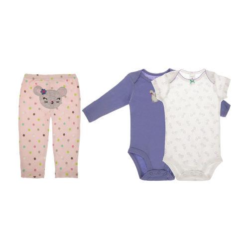 ست 3 تکه  لباس نوزادی دخترانه  کارترز کد 654