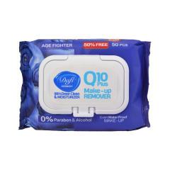 دستمال مرطوب دافی مدل Q10 blueberry بسته 50 عددی