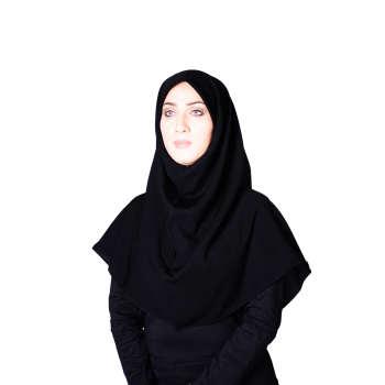 مقنعه کرپ ساده شهر حجاب مدل 90