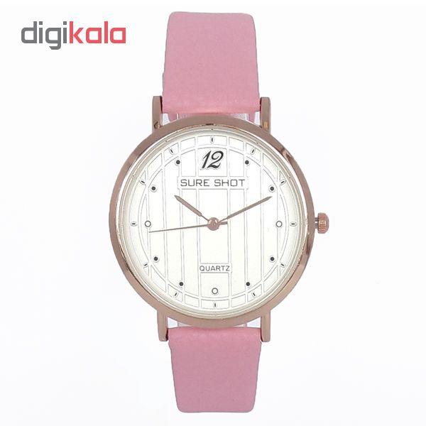 ساعت مچی عقربه ای زنانه سوری شات مدل SUR 9933 / SOR به همراه دستمال مخصوص نانو کلیر واچ
