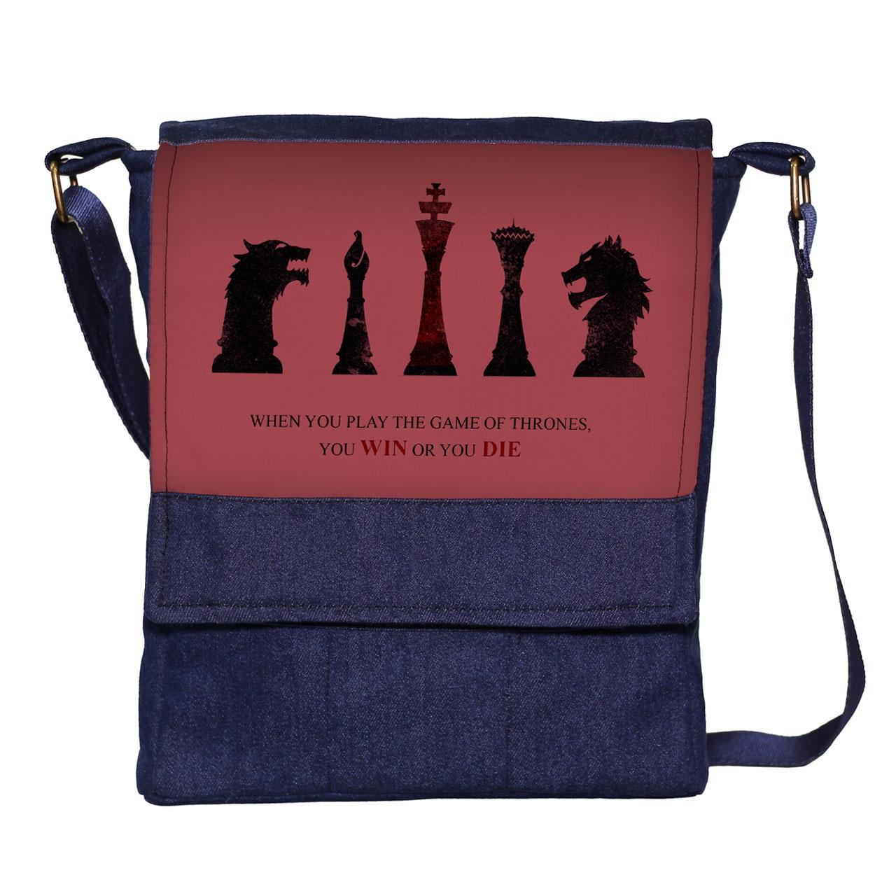کیف دوشی مردانه گالری چی چاپ طرح بازی تاج و تخت کد 65936