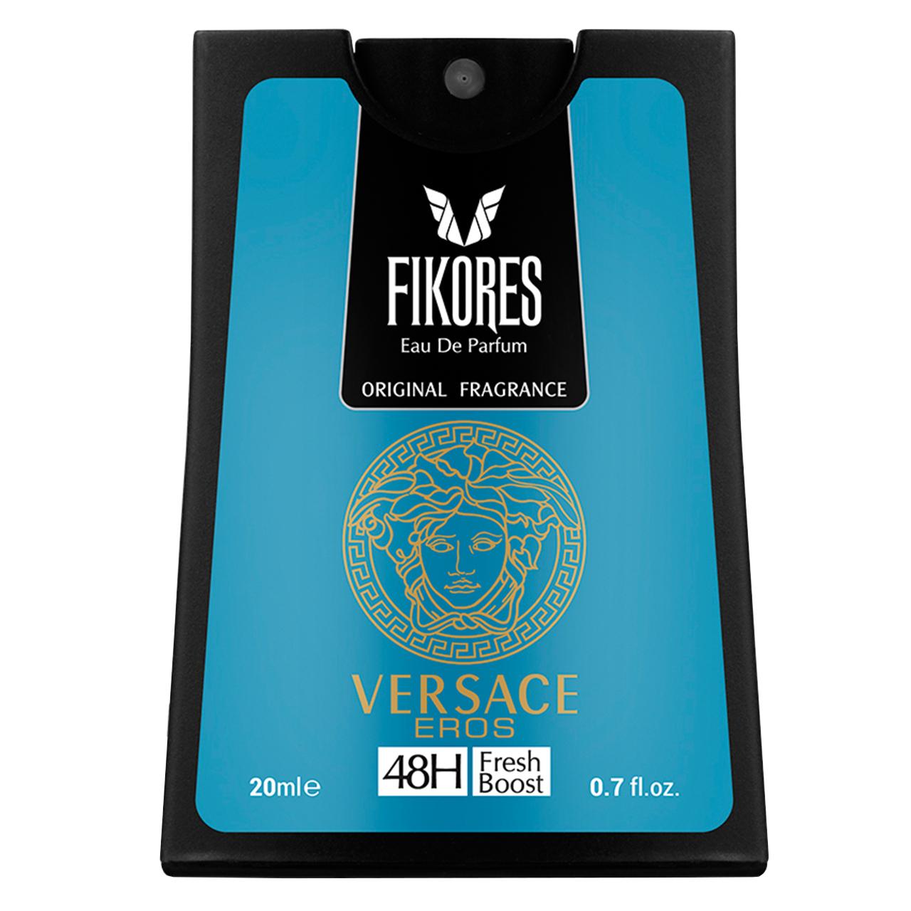 عطر جیبی مردانه فیکورس مدل Versace Eros  حجم 20 میلی لیتر