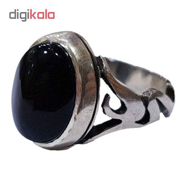 انگشتر نقره مردانه مدل AL-S101