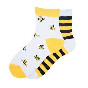 جوراب دخترانه طرح زنبور مدل vf2w