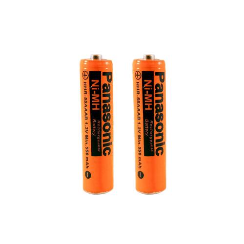 باتری نیم قلمی قابل شارژ پاناسونیک مدل HHR-55AAAB ظرفیت 550 میلی آمپر ساعت بسته 2 عددی