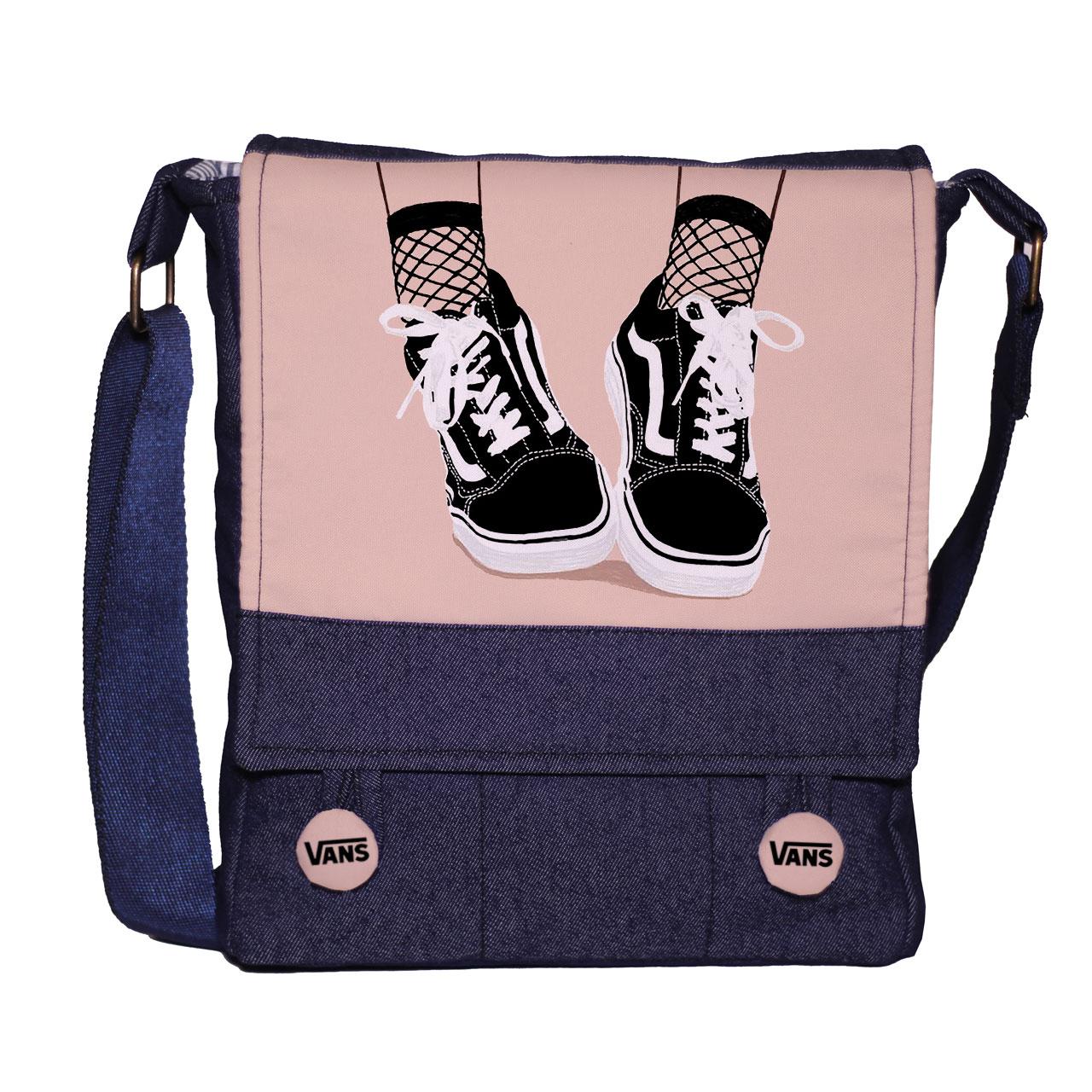 قیمت کیف دوشی دخترانه گالری چی چاپ طرح کفش