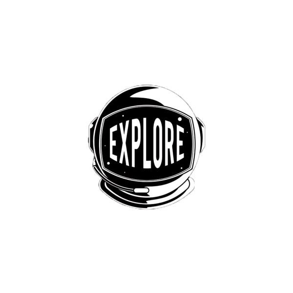 استیکر لپ تاپ طرح Explore کد 198