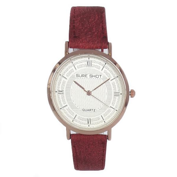 ساعت مچی عقربه ای زنانه سوری شات مدل SUR 9977 / GHER به همراه دستمال مخصوص نانو کلیر واچ