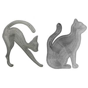 شابلون ابرو و خط چشم مدل Cat Line مجموعه 2 عددی