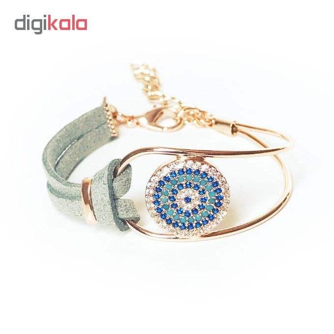 دستبند زنانه طرح چشم نظر کد 1LSD46 main 1 2