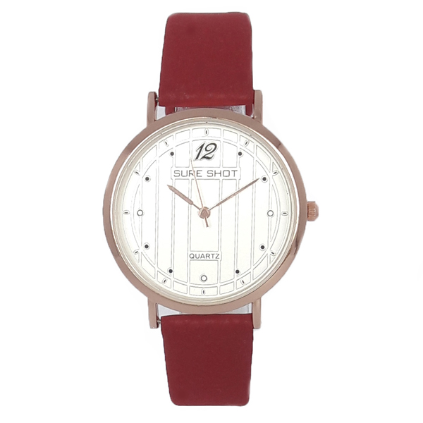 ساعت مچی عقربه ای زنانه سوری شات مدل SUR 9933 / GHER به همراه دستمال مخصوص نانو کلیر واچ 6
