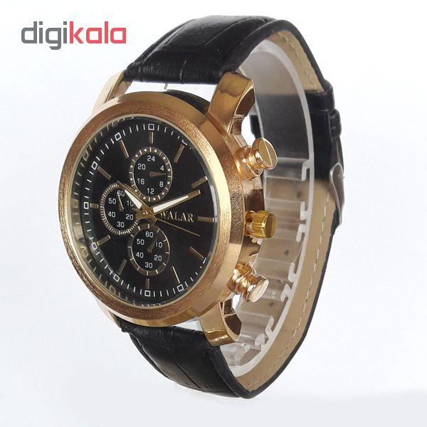 ساعت مچی عقربه ای  مردانه والار مدل WG 0252-1 / ME-TA به همراه دستمال مخصوص نانو کلیر واچ