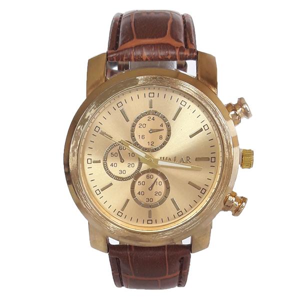 ساعت مچی عقربه ای  مردانه والار مدل WG 0252-1 / GHA-TA به همراه دستمال مخصوص نانو کلیر واچ