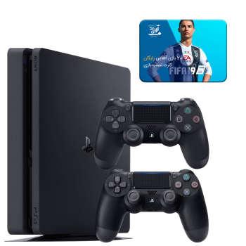 مجموعه کنسول بازی سونی مدل Playstation 4 Slim ریجن 3 کد CUH-2218B ظرفیت 1 ترابایت به همراه 20 عدد بازی