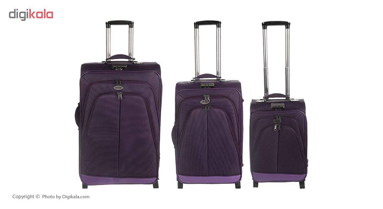 مجموعه 3 عددی چمدان تاپ یورو مدل Te-p01