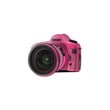 استیکر لپ تاپ طرح دوربین کد 255