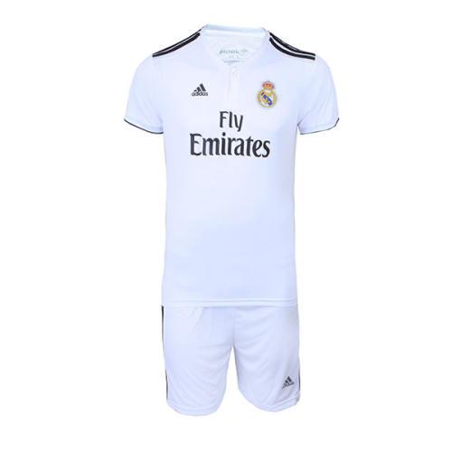 پیراهن و شورت ورزشی پسرانه طرح تیم رئال مادرید کد 30007
