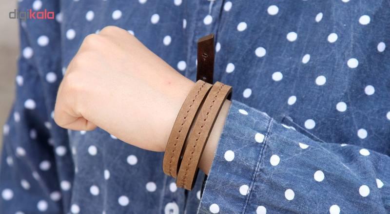 دستبند چرم لانکا مدل BB-10