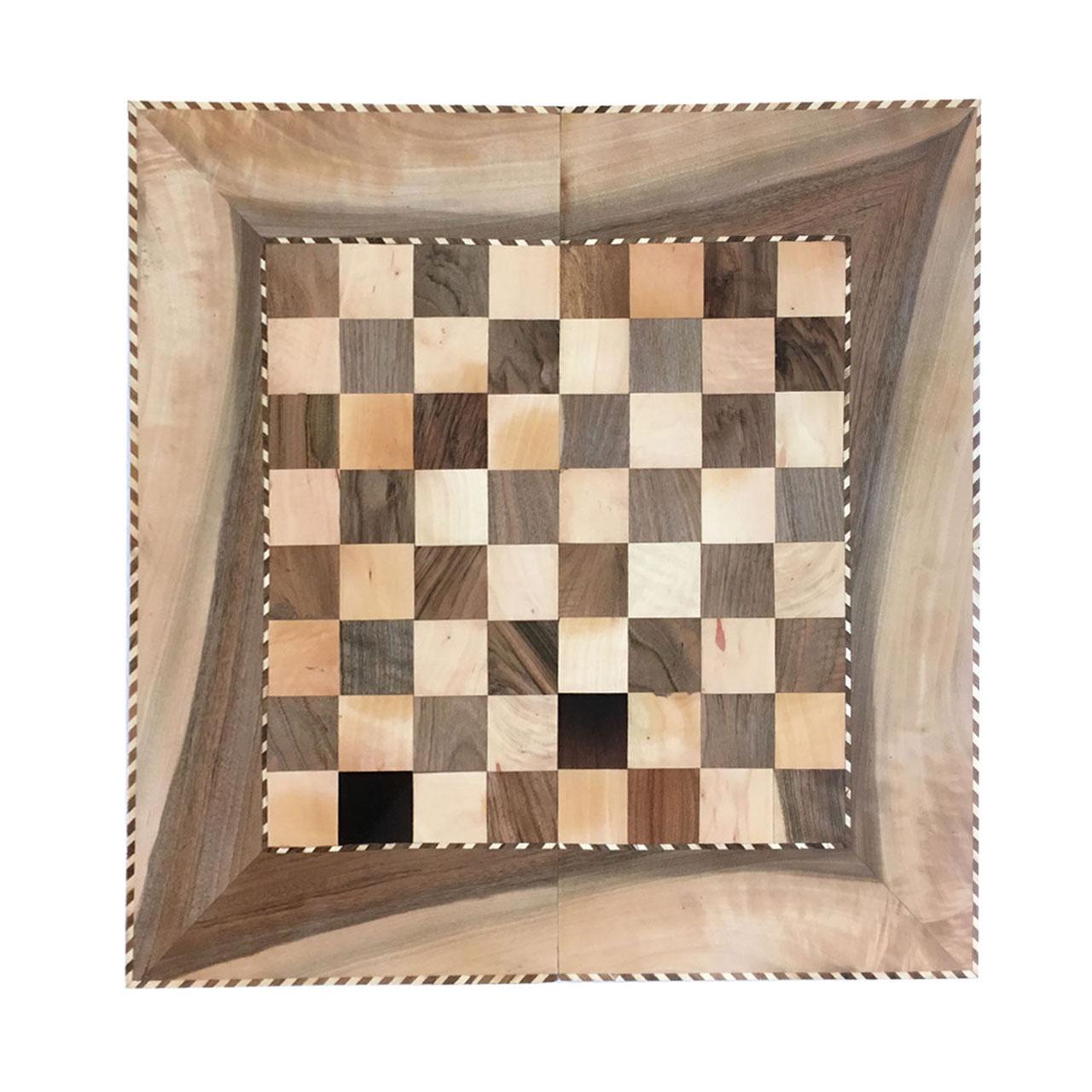 صفحه شطرنج و تخته نرد خاتم کاری مدل LM03