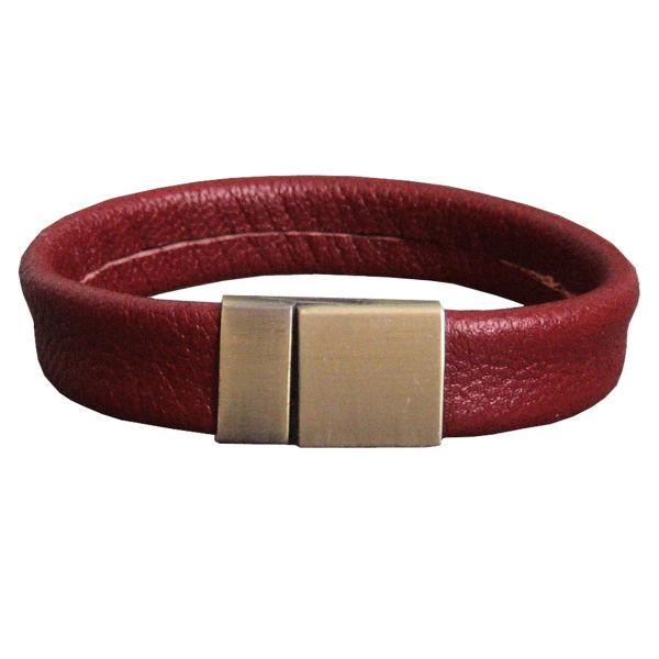دستبند زنانه چرم دانوب مدل BR-003  کد 003