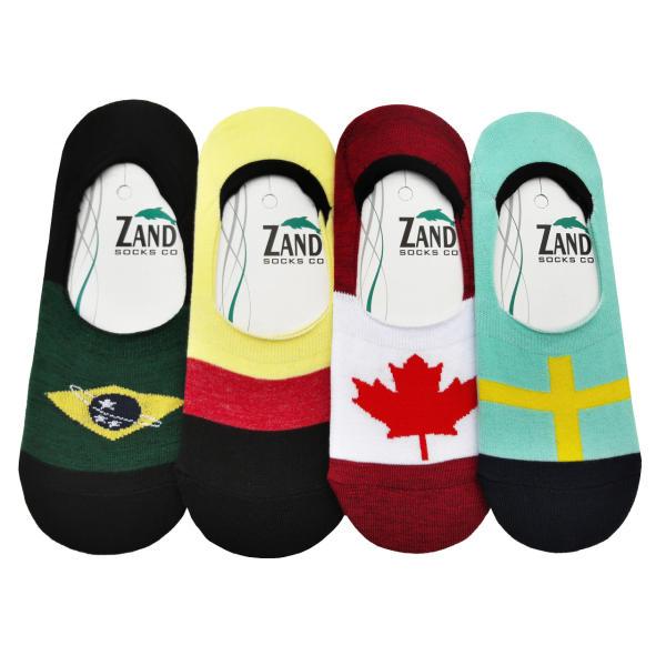 جوراب زنانه  زند طرح پرچم کد Y 77 مجموعه 4 عددی