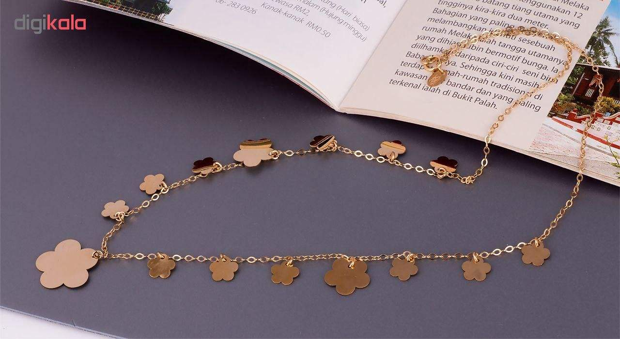 سرویس طلای 18 عیار زنانه گالری مرجان مدل 0899