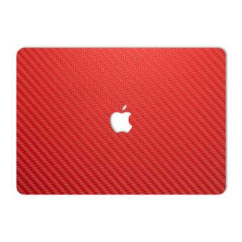 برچسب پوششی ماهوت مدل Red Carbon مناسب برای لپ تاپ Macbook 12inch Retina