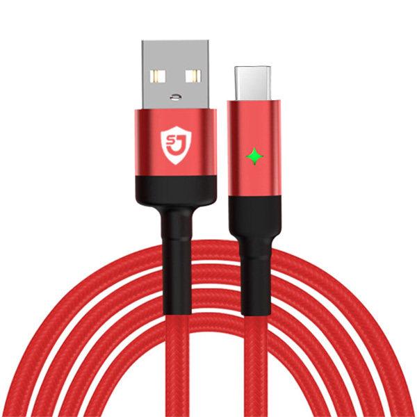 کابل تبدیل USB به USB-C شانگژی مدل SJ-CB-12 طول 1 متر