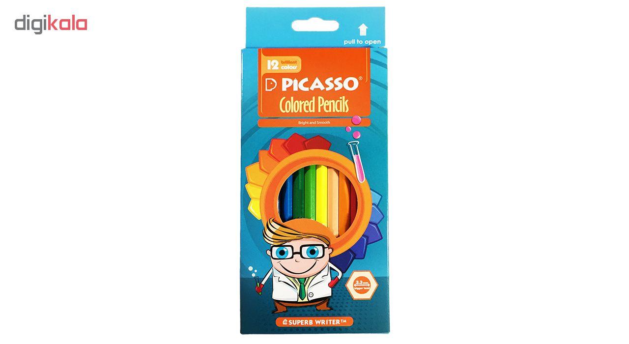 مداد رنگی 12 رنگ پیکاسو کد 18E1089 Nerd Boy